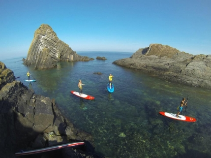 Stand Up Paddle Boarding(SUP) Safari at Lundy Island.